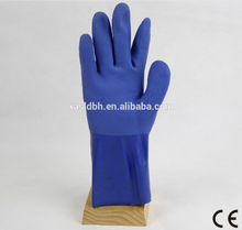 Anti-oil PVC Coated Safety Gloves With en388 For Machinery