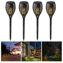 Solar Garden Torch Light, Waterproof Flickering Flames Torches Lights Outdoor Landscape Decoration Lighting Dusk To Dawn Auto on/Off for Gar
