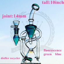 glass factory Glass Bong Beaker Hitman water pipes Zob ice catcher arms tree perc dab oil rigs bongs bubbler Pink purple Hookah matrix bong