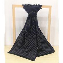 Autumn and winter men's business scarves warm cashmere long paragraph simple leisure scarves
