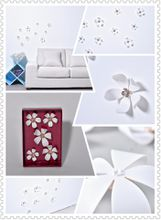 Flower 3D Wall Stickers White color(5pcs/box)