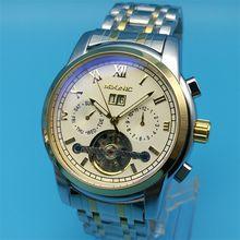 IPG IPS IPB Mechanical Automatic Watch Men's Stainless Steel Multi-function Large Calendar Flywheel Watch Luxury Brand Watches