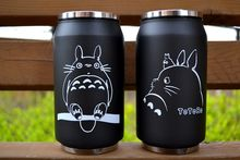 2018 cartoon vacuum thermos mug my neighbor totoro can of cola stainless steel anime figures cup with Japanese hayao miyazaki design