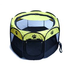 Outdoor Portable Quality Oxford Pet Tent Folding Fence Playpen Kennel Puppy Dog Cage Exercise Soft Crate