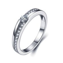 Noble New arrival Exquisite women's S925 Silver Ring fashion elegant ladies diamond rings sterling silver jewelry ring Factory direct NBR011