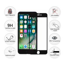 iPhone7 Screen Protector Full Coverage Tempered Glass Screen Protector Film Edge to Edge Protection for iPhone7 4.7 Inch white Black