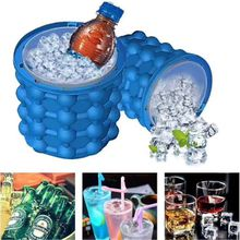 Silicone Ice Buckets Kitchen Tool The Revolutionary Space Saving Ice Cube Maker Irlde Ice Genie Easy To Clean 33my C
