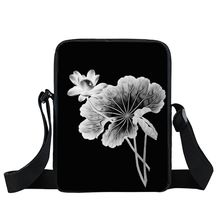 China Factory Sale 2018 Brand New Chpeap Black Water Lily Sling Shoulder Mini Women Girls Messenger Bag