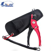 iLure Aluminum alloy fish control grip claw multi-function Line pliers hook fishing pliers Pesca fishing tools Red Blue