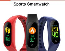 brand new Color LCD Screen M3 Smart Bracelet Fitness Tracker Pedometer Watch Band Heart Rate Blood Pressure Monitor Smart Wristband