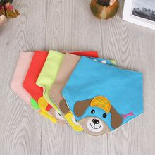 Puppy five-star cotton cartoon triangle towel newborn supplies double button mouth