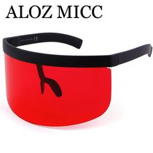 ALOZ MICC designer sunglasses women oversize shield visor sunglasses women retro windproof glasses men hield visor Flat Top eyeglasses A471