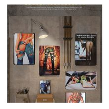 Tin Sign Wall Decor Retro Metal Art Poster Metal Plate Plaques Finish Retro wall decor
