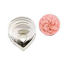 10pcs stainless steel cookie cutters mold set fondant pinch flowers fondant cake tool rose petals fondant cake mould