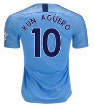 Man city soccer jerseys 2019 Home blue Sterling De Bruyne Sane Kompany Silva Jesus Mahrez Kun Aguero jersey football shirts