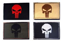 VP-78 2*3 inch 3D Embroidered patch Punisher with magic tape Skull patch Tactical Isaf Attack Badge Military patches outdoor badges