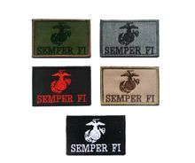 VP-130 3*2 inch 3D Embroidered patches SEMPER FI Tactical Badge patches outdoor badges sew on patch Game patch