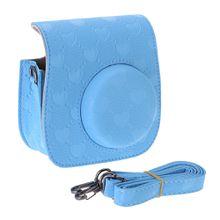 Camera Case PU Leather Covers Bag For Fuji Fujifilm Instax Mini 8 8s heart embossing