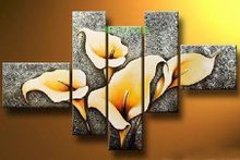 Free shipping MODERN ABSTRACT CANVAS lily flowers art wall home decoration oil painting new arrival P55