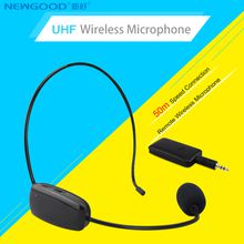 NEWGOOD UHF Wireless Microphone Headset MIC Megaphone Loudspeaker 2 in 1 Handheld Portable for Speach Conference 3.5mm Plug Receiver