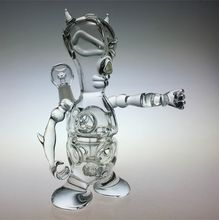 Demon fab egg oil rigs dab rigs water pipes glass bongs with tyre perc 14.5mm joint