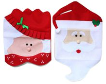 Lovely Christmas articles for use Chair Covers Ornaments Mr & Mrs Santa Claus Christmas Decoration Best Seller