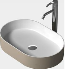 Oval bathroom solid surface stone counter top sink fashionable Vanity Above washbasin RS38335-473