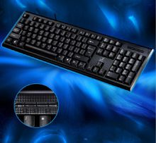 Ultra thin Waterproof 107 Key Backlit Edition Gaming Keyboard Brown USB Wired Gamer Gaming Keyboard USB Powered for Desktop Laptop