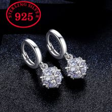 Fashion Cubic Zircon Drop Earrings for Women Long Dangle Earing Crystal CZ Zircon Statement Wedding Ball Jewelry