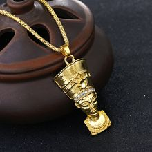 18k gold plated Character Rhinestones pendant necklace for women band men hip hop jewelry necklace