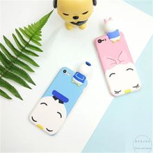 2017 New Arrival Universal Black Dark Green Pink Fitted Case New I7 Silicone 3d White Rabbit Phone Shell I6s Plus Cartoon Protective Cover.