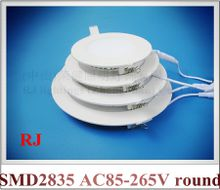 LED flat light recessed ceiling LED panel lamp light 24W / 18W / 15W / 12W / 9W / 6W AC85-265V SMD2835 embeded install CE
