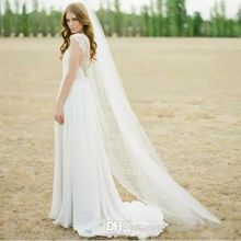 High Quality Hot Sale Ivory White Two Meters Long Tulle Wedding Accessories Bridal Bride Veils With Comb
