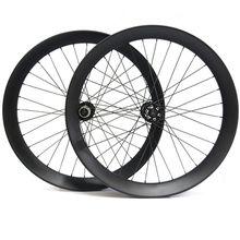Toray T700 Carbon Fiber UD matte Bicycle Wheelset Snow bike wheel set Fatbike Wheels Width 90mm Depth 40mm Bicycle wheels