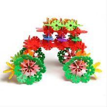 Plastic funny multivariant Snowflake Building Blocks for children