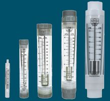 Flowmeter for water treatment equipment, panel type and tube type