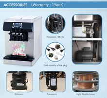 China Kolice Hotsale CE EMC certificate table style soft ice cream machine yogurt ice cream machine