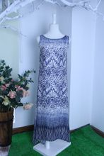 DS16 2017 SUMMER 100% nature Silk printing long dress lady