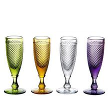 Colorful Clear Goblet Style Cut Glass Glassware Wine Glasses