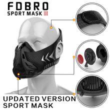 FDBRO Sports Masks New Black Masks Men Women Phantom Good Quality Training Sport Fitness Mask2.0 EVA Package With Box Free Shipping