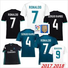 best quality Real Madrid 2018 Ronaldo soccer jersey MODRIC LUCAS V MORATA BALE KROOS ISCO BENZEMA football shirts Camisa new jersey