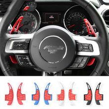 Aluminum Alloy Steering Wheel Shift Paddles Shifters Extension Fit For Ford Mustang 2015-2016 Car Interior Accessories