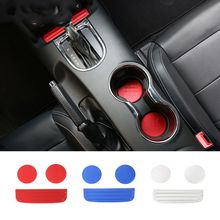 Cup Mat Holder Stickers Decoration Covers Fit For Ford Mustang 2015-2016 Aluminum alloy Car Interior Accessories