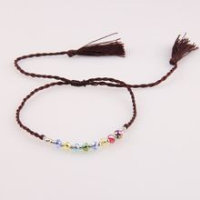 Bracelets for women spherical crystal stone tassels bracelets Adjustable braided bracelets