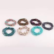 High quality Bohemian measle multilayer bracelet Simple Colorful seed Beads Bracelet wholesale jewelry for women free shipping