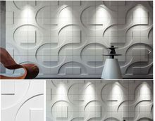 Water-proof Wall Decorative Lover Designed Light-weight 3D PVC Wall Panels