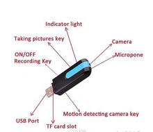 New Hot sale Spy Camera Mini DVR U8 HD Mini USB Disk Spy Camera DVR Motion Detect Camera Cam Hidden Camera free shipping