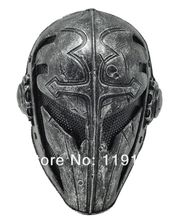 Paintball Airsoft Wire Mesh Templar Fabric Plastic Mask (black)