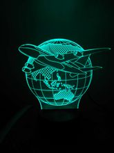 3D Lamp Volleyball Women Playing Night Light 7 Color Change LED Touch Novelty Lighting Illusion Lights with Acrylic Flat ABS Base USB Charge