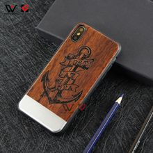 Beautiful Metal Aluminum Wood Cell Phone Cases for iPhone X 8plus 7plus 8 7 10 6s Clear Full TPU Silicone Rubber Cover Bulk